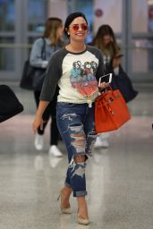 Demi Lovato - Arriving at JFX Airport in New York City 6/23/2016