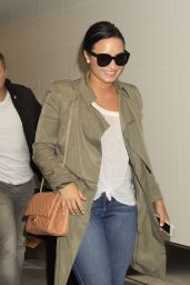 Demi Lovato Travel Outfit - at LAX Airport in Los Angeles, CA 6/15/2016