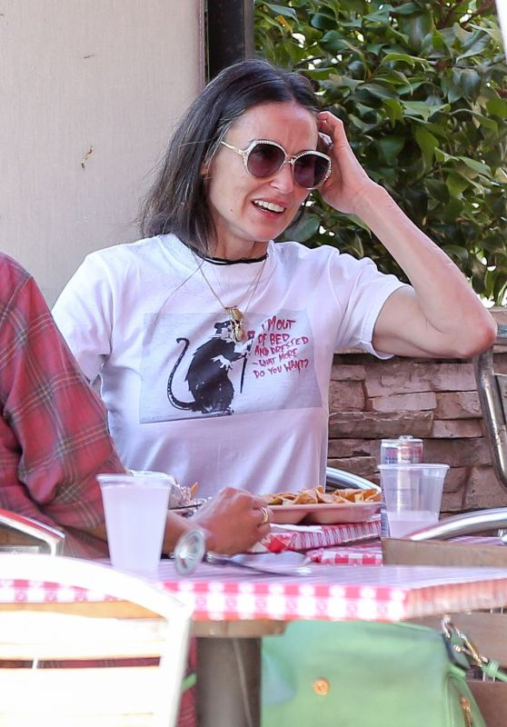 Demi Moore - Enjoys Mexican Food With a Friend at Pinches Tacos in West Hollywood 6/4/2016