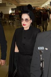 Dita Von Teese - Airport Terminal in the City of Adelaide, Australia 6/24/2016