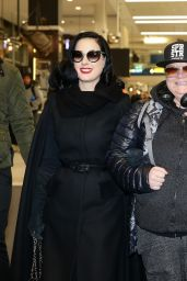 Dita Von Teese at Sydney Airport in Australia 6/27/2016
