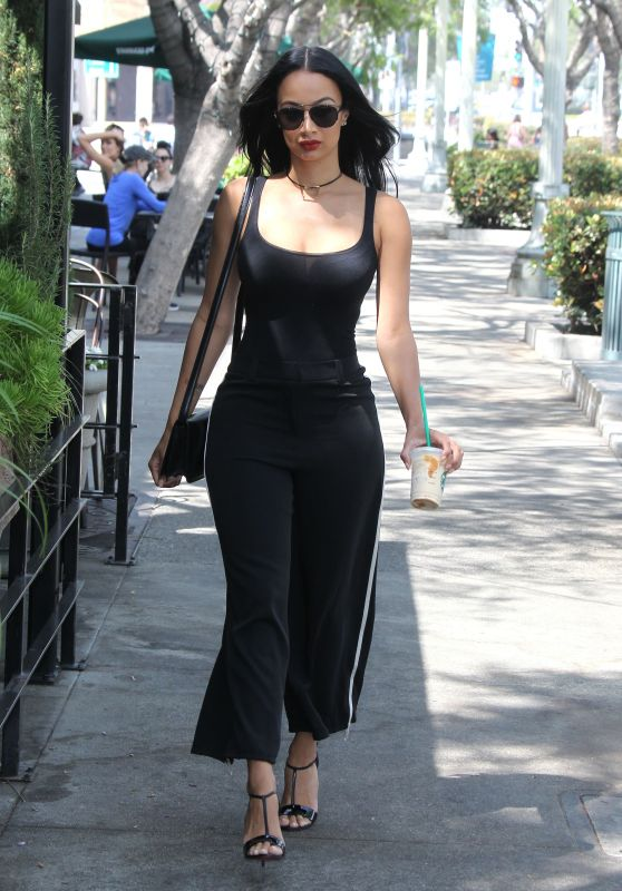 Draya Michele Summer Style - Grabbing a Coffee in Culver City 6/27/2016