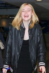 Elle Fanning - at LAX Los Angeles 6/23/2016