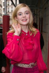 Elle Fanning Out in Paris, France 6/3/2016
