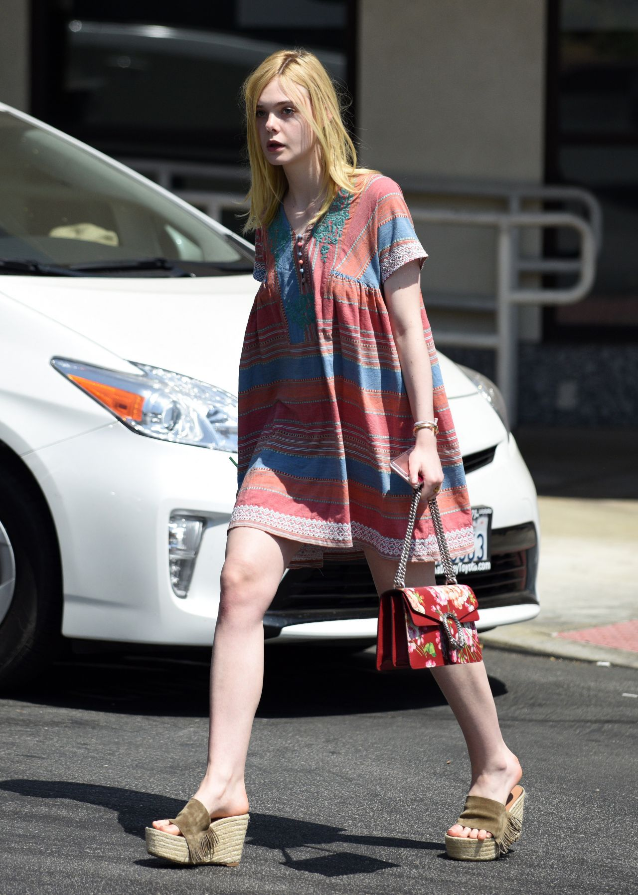 Elle fanning summer street style at starbucks in west for Le elle apartments west hollywood
