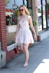 Elle Fanning Summer Style - Out in Los Angeles 6/25/2016