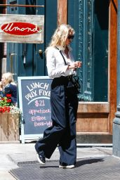 Elsa Hosk Inspiring Style - Outside Her Apartment in Tribeca 6/9/2016