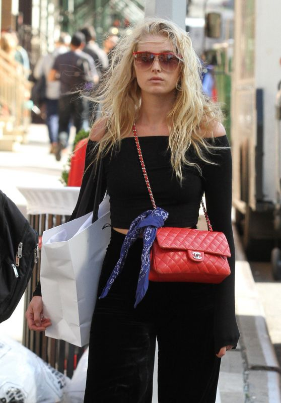 Elsa Hosk Shopping in Manhattan 6/9/2016