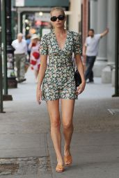 Elsa Hosk Shows Off Her Long Legs - Soho NYC, June 2016