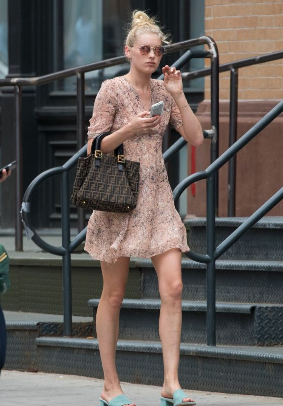Elsa Hosk Street Outfit - New York City 6/27/2016