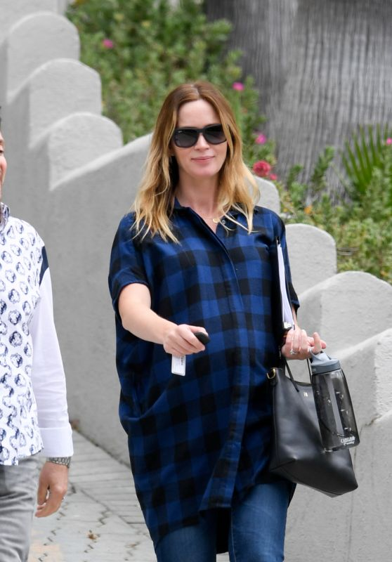 Emily Blunt - Leaving a House in Beverly Hills 6/13/2016