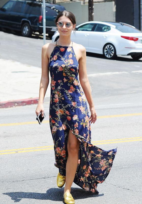 Emily Ratajkowski in Summer Dress - Out in Los Angeles, June 2016