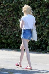 Emma Roberts in Jeans Shorts - Out in West Hollywood 6/29/2016