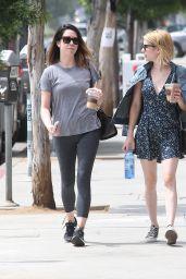 Emma Roberts in Mini Dress - Los Angeles 6/28/2016