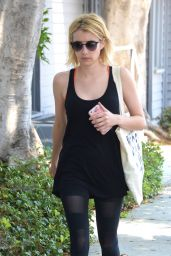 Emma Roberts in Spandex - Out in West Hollywood 6/27/2016