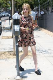 Emma Roberts in Summer Dress - Out in West Hollywood 6/17/2016