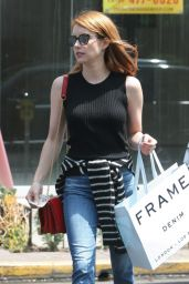 Emma Roberts - Shopping in West Hollywood, June 2016