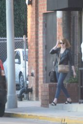 Emma Stone Casual Style - Out in Beverly Hills 6/18/2016