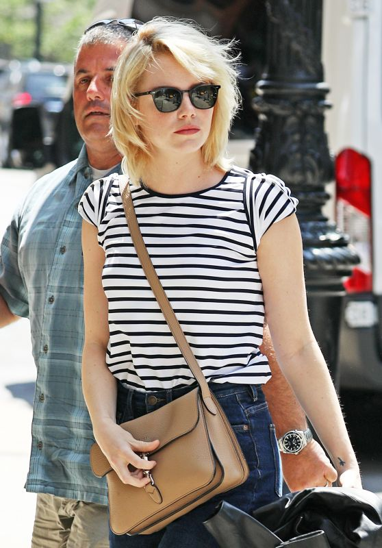 Emma Stone Cute Outfit - Out in New York City 6/2/2016