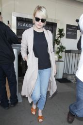 Emma Stone Travel Outfit - at LAX Airport 6/7/2016