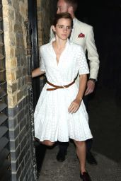 Emma Watson - Leaves the Chiltern Firehouse in London 6/9/2016