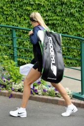 Eugenie Bouchard at All England Club in London 6/27/2016