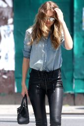 Gigi Hadid in Leather Pants - Out in New York City 6/17/2016