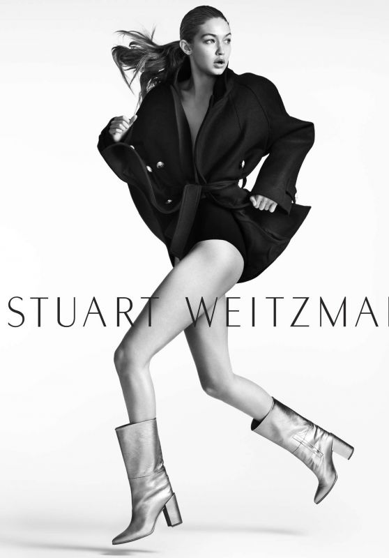 Gigi Hadid - Photoshoot for Stuart Weitzman Fall/Winter 2016/2017