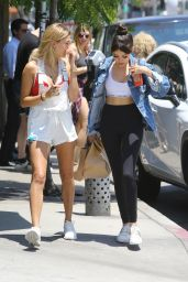 Hailey Baldwin & Madison Beer - Out for Lunch at Urth Caffe in West Hollywood, June 2016