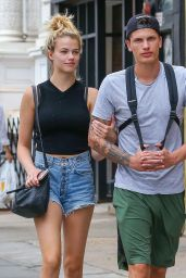 Hailey Clauson Leggy in Jeans Shorts - Out in NYC 6/16/2016