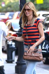 Heidi Klum Casual Style - at Her Hotel in NYC 6/18/2016