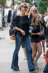 Heidi Klum Casual Style - Out in New York City 6/27/2016