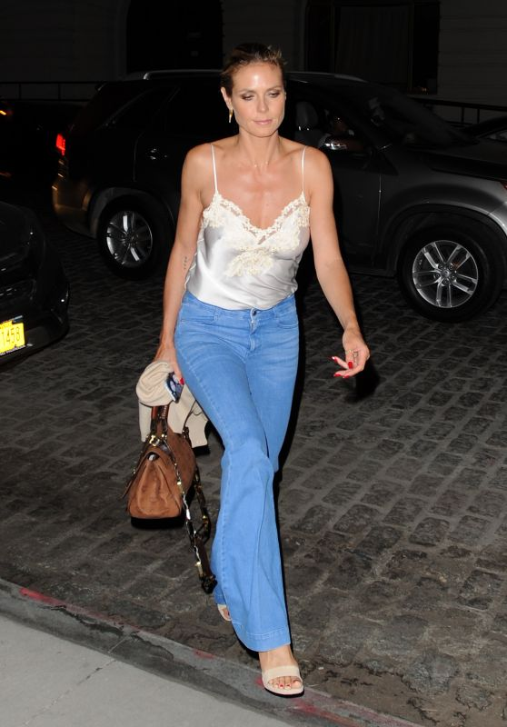 Heidi Klum Night Out Style - Leaving the Tamarind Restaurant in Tribeca, June 2016