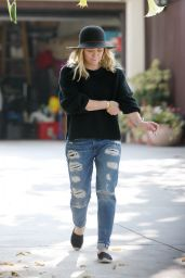 Hilary Duff in Ripped Jeans - Out in Toluca Lake 6/9/2016