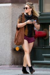 Hilary Duff in Shorts - Shopping in NYC 6/22/2016