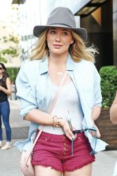 Hilary Duff Leggy in Shorts - Out in NYC 6/6/2016