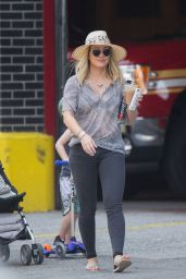 Hilary Duff - Trying to Get a Ride in New York City 6/28/2016