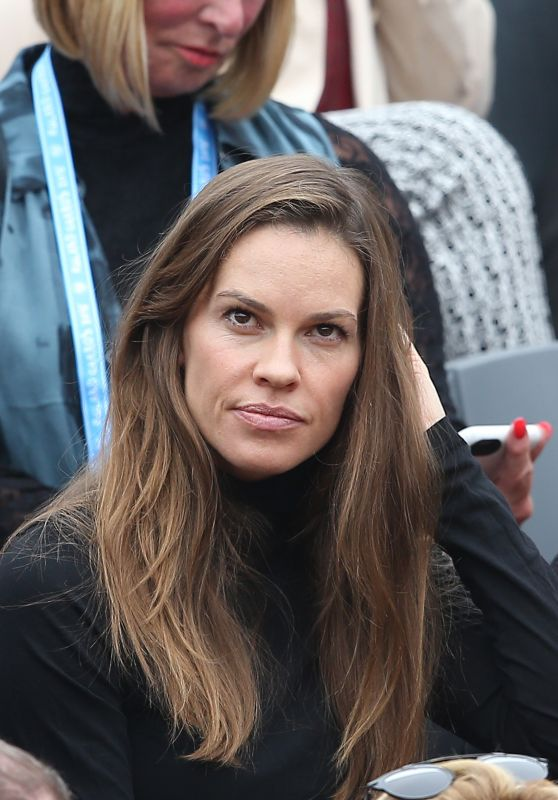 Hilary Swank - 2016 French Open Final of Roland Garros in ... Hilary Swank