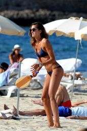 Izabel Goulart in a Bikini on the Beach in Ibiza 6/17/2016