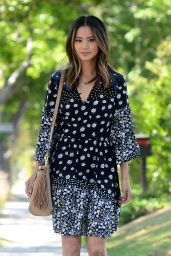 Jamie Chung in Floral Print for Summer in West Hollywood 6/16/2016