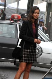 Jamie Chung - On the Set of