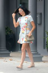 Jenna Dewan in Summer Dress - Visit to the Salon West Hollywood 6/28/2016