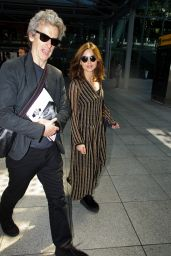 Jenna-Louise Coleman Airport Style - at London Heathrow Airport 6/6/2016