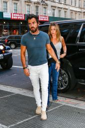 Jennifer Aniston Casual Style - Out in New York City 6/21/2016