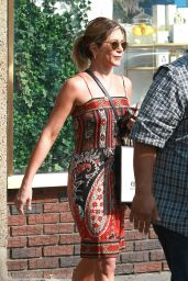 Jennifer Aniston is Summer Ready in Her Strapless Dress - New York City 6/20/2016