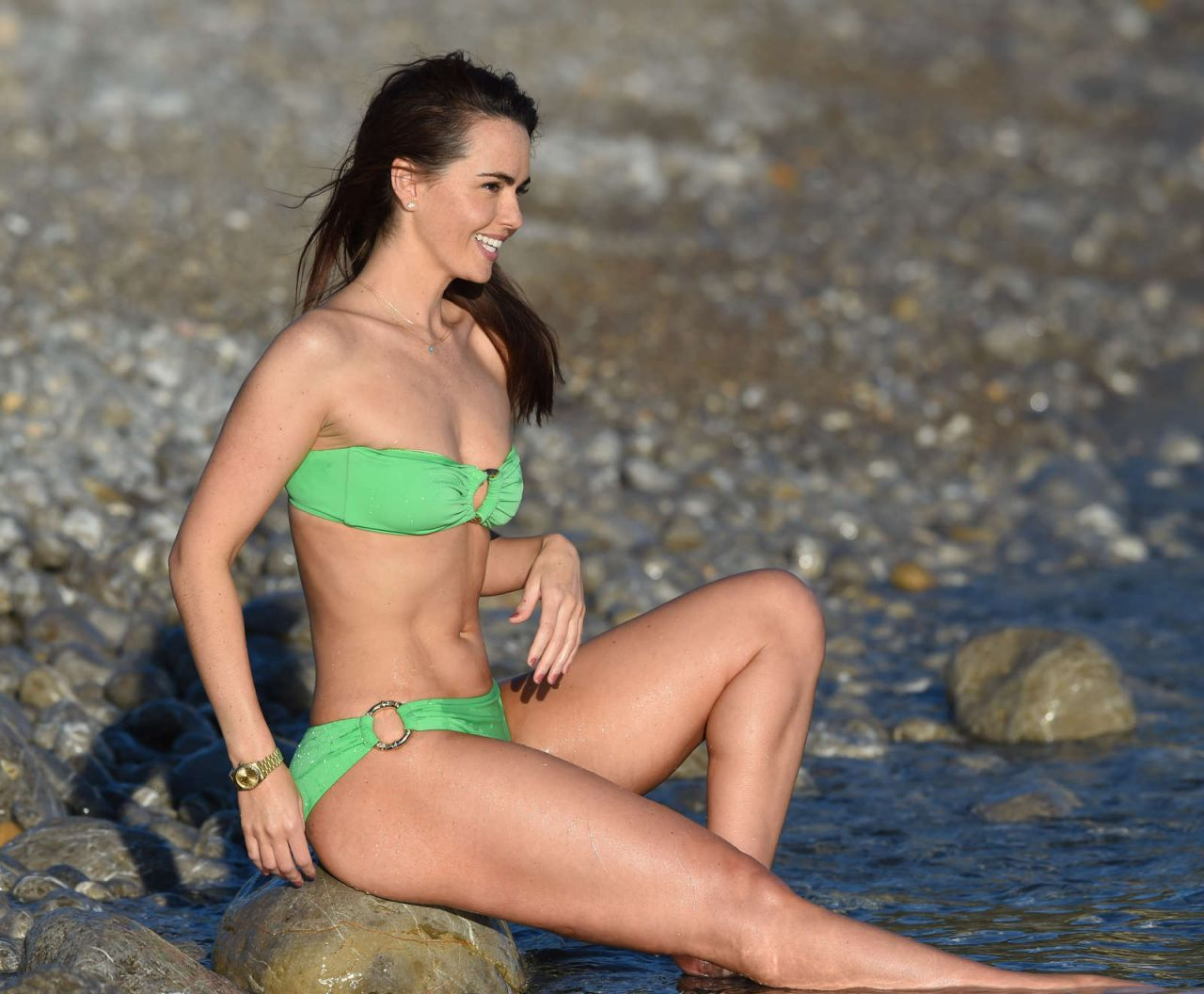 Jennifer Metcalfe In Bikini On A Beach In Ibiza, June 2016-4697