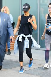 Jessica Alba - Arrives at the Gym in New York City 6/15/2016