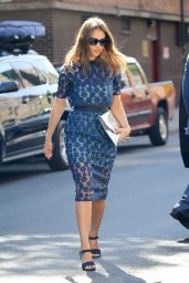 Jessica Alba Chic Outfit - Out in New York City 6/15/2016