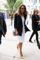 Jessica Alba Office Chic Outfit - Toronto 6/28/2016