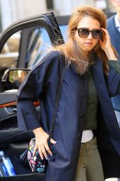 Jessica Alba Street Style - Outside Her Hotel in New York City 6/13/2016